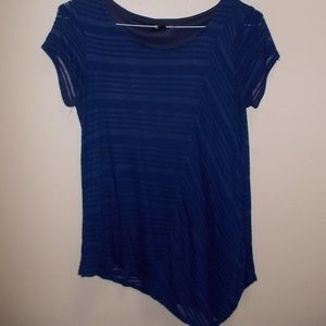 Short sleeve blue ladies shirt